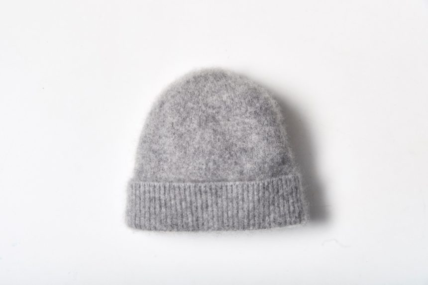 cashmere knit cap (Gray)