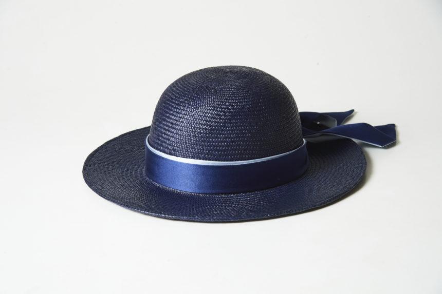 panama wide hat(navy)