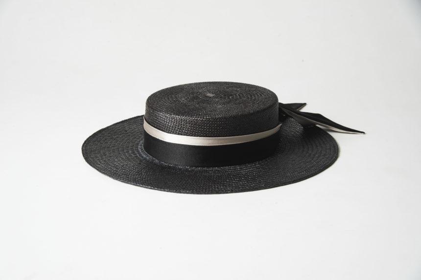 panama canotier(black)