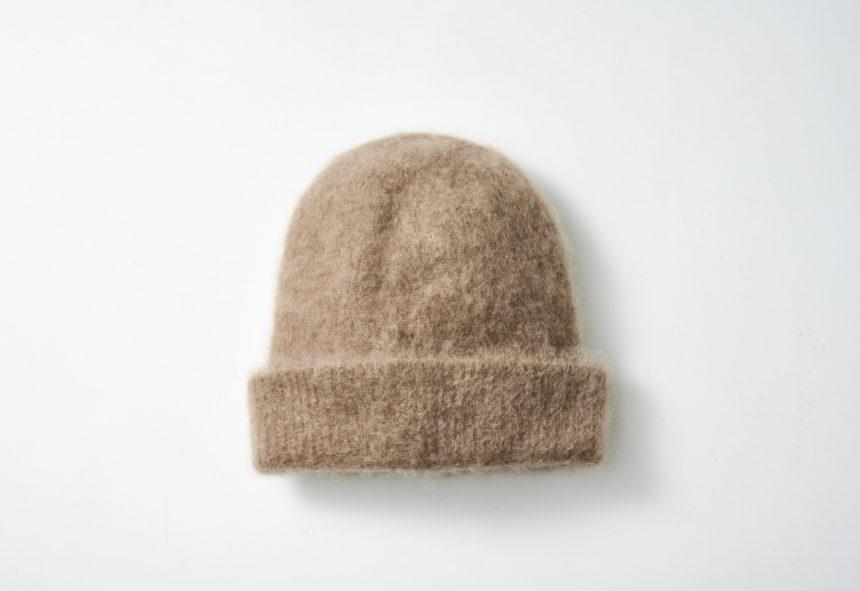 cashmere knit cap (Camel)