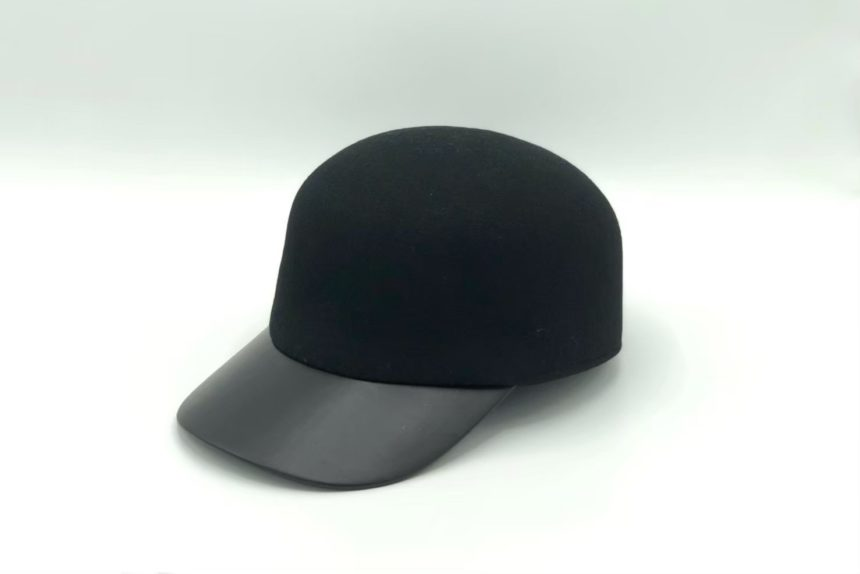 felt×leather cap(black)