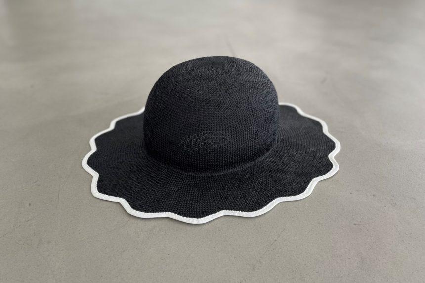 scalloped hat(Black)