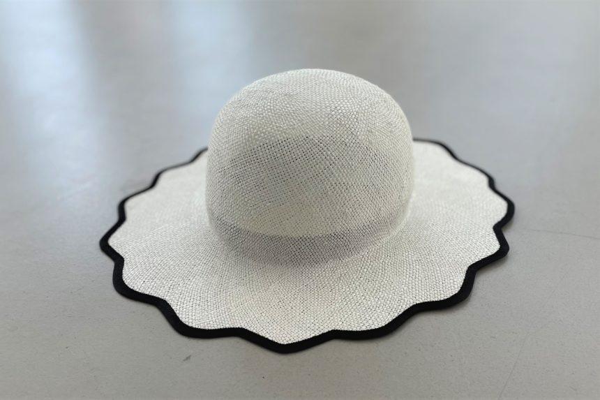 scalloped hat(White)